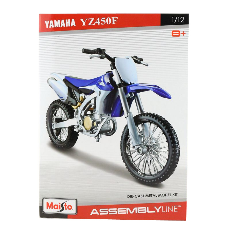Free Shipping/Maisto Toy/Assembly Motorcycle Model/1:12 Scale/YAMAHA YZ450F Super/Educational Collection/Gift For Children(China)