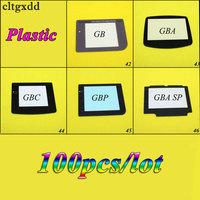 Clygxdd 100PCS Plastic Lens For GB GBC GBA SP GBP Screen Glass Lens For Gameboy Advance Color Lens Protector W/ Adhensive