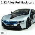 I8 supercars 1:32 сплав модель, Задерживать игрушка автомобиль, Diecasts игрушки автомобили