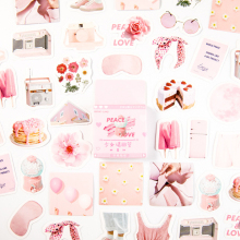 20packs/lot Pattern Decoracion Journal Stickers  Pink Girl Please Answer Stationery Student Office Supplies