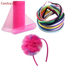 52pcs/1lot 10mm Plain 26 Solid Color Satin Covered Kids Headbands, Resin Headband Ribbon Adult & Hair accessories