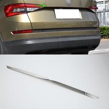 OUBOLUN stainless steel  exterior car accessories rear trunk streamer high quality For 2017 SKODA KODIAQ