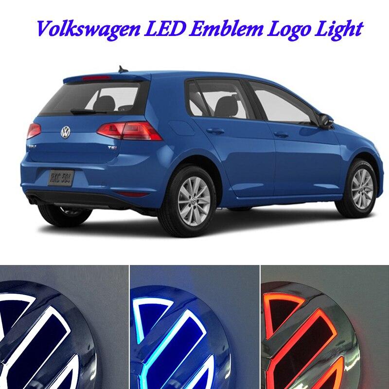 11 cm para Volkswagen VW passat b6 b5 b5.5 b7 b8 CC 3C scirocco VW jetta golf 4 5 6 mk5 mk6 mk7 polo LED placa emblema logotipo de la luz