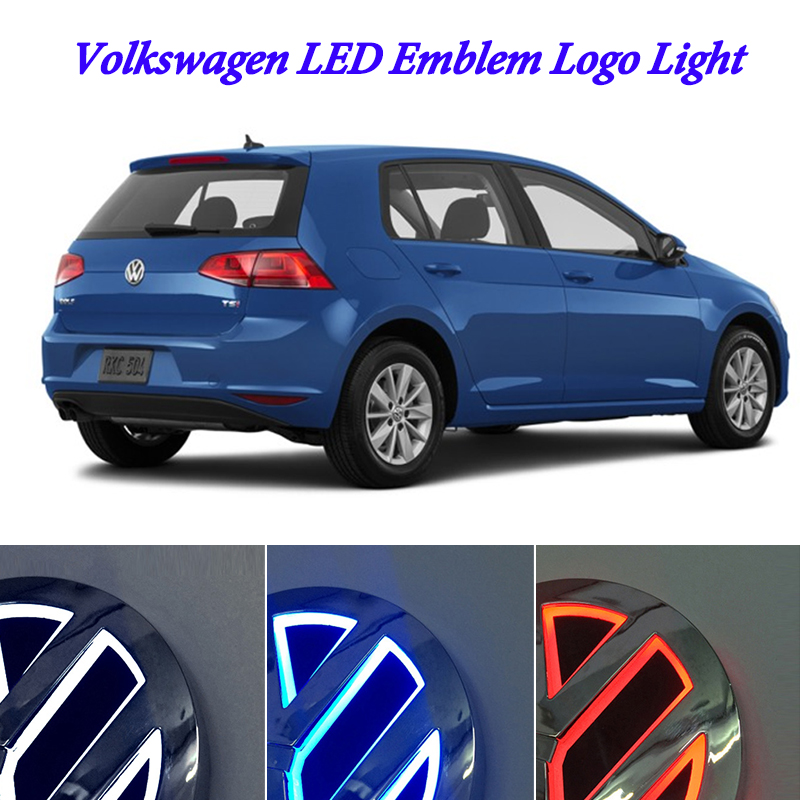 11cm For Volkswagen VW passat b6 b5 b5.5 b7 b8 CC 3C scirocco VW jetta golf 4 5 6 mk5 mk6 mk7 polo LED Badge Emblem Logo Light