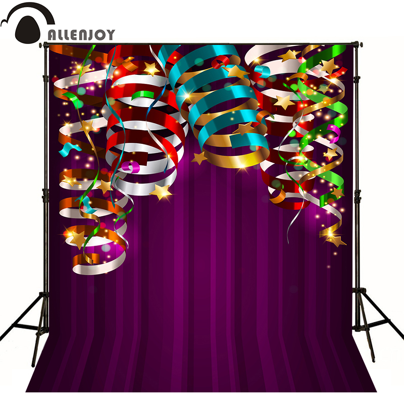 AllEnjoy photography background Birthday Star color ribbon newborn photocall flags Professional photographic backdrop studio