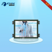 ZK080TC LR2/8 inch 1024x768 HD VGA HDMI Metal Open Embedded Frame Industrial Medical Equipment Touch Monitor LCD Screen Display