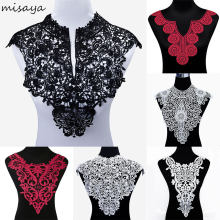 Misaya 1pc Polyester 4 Colors Flower Lace Neckline Fabric,DIY handmade Wedding Dress Lace Collar For Sewing Supplies Crafts(China)