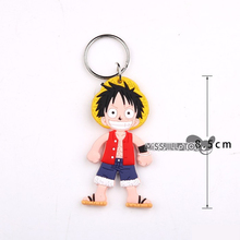 10pcs ONE PIECE pendant Luffy Chopper Sanji Brook Keychain