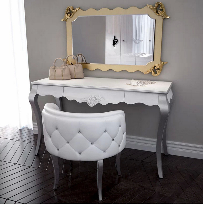 Charmant (1 Dresser Table +mirror+chair) /lot New Desgin White Dresser Table With  Mirror And Chair For Young People #CE 986 M In Dressers From Furniture On  ...