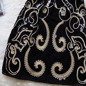 Image 3 - 刺繍スパンコールプラスサイズセクシーなヴィンテージエレガントな安いショート女性黒夏パーティーカクテルドレス