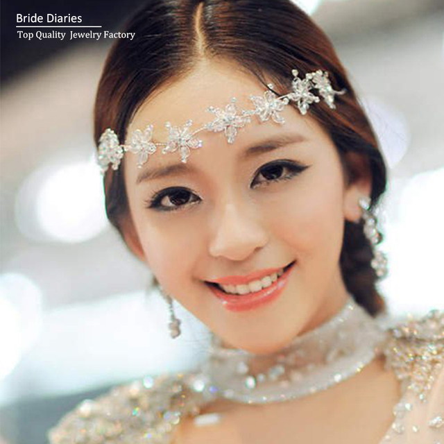 Bridal Hairbands Headband Flower Garland wedding head pieces hair  accessories wedding jewelry 7a13f97648a