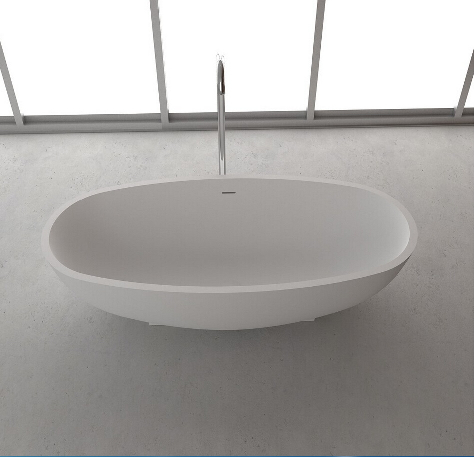 1700x800x500mm Solid Surface Stone Cupc Goedkeuring Bad Ovale