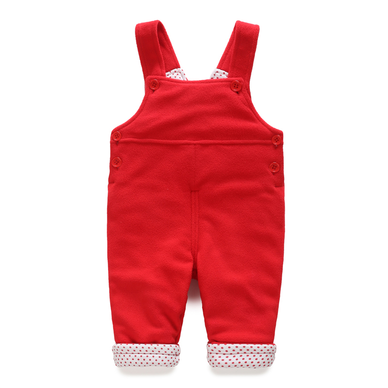 YiErYing  Baby Pants Autumn and Winter Thickening Pure Color Leisure Boys and Girls Baby Spring Cute Newborn Trousers