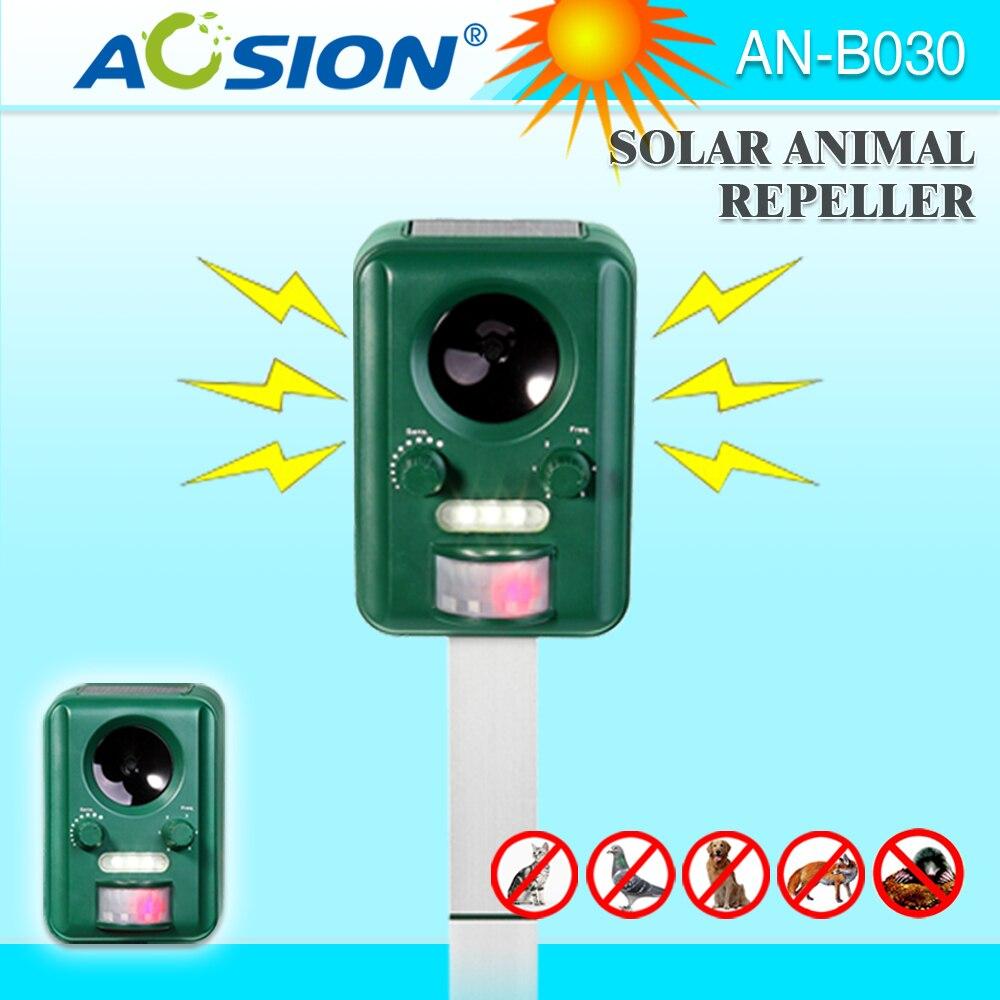 AOSION Solar Ultrasonic Animal Repeller Bats Birds Dogs Cats Repeller Repellent Ultrasonic Signal And Flashing Frighten
