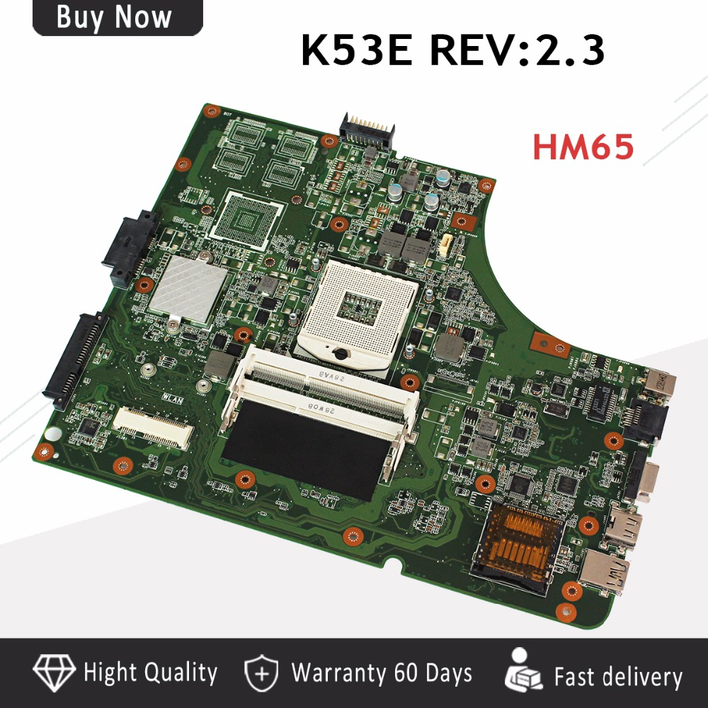 K53SD REV2 3 USB2 0 for ASUS K53E P53E A53S K53S K53SD laptop motherboard HM65 DDR3