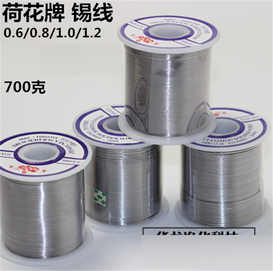 2017 HOT 1Pcs 63SN/37PB FLUX 1.8% Solder wire/ Welding Wires/Solder Flick/tin wire Electric soldering iron Welding 0.8mm 700g high purity 63a 500g 63% soldering tin bar welding tin solder