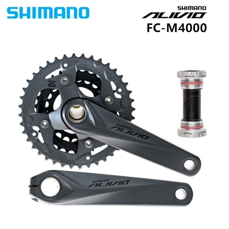 shimano 4000 Alivio Crank Crankset FC M4050 with BB52 for M4000 HollowTech bicycle parts 170/175MM