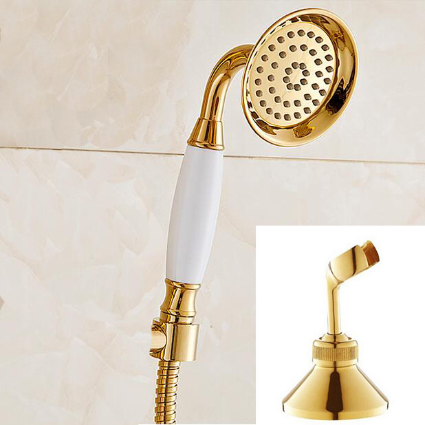 New Brass Classical Telephone gold and Held Shower Head +1.5M golden shower pipe golden hand shower цены онлайн