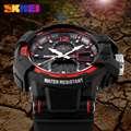 2016 New SKMEI Luxury Brand Men Fashion Sports Watches Analog Digital LED Quartz Mens Wristwatch Rubber Strap Relogio Masculino