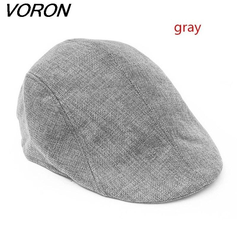 VORON nuevo verano boina hombres diseño lino sombrero mujer otoño e - Accesorios para la ropa - foto 2