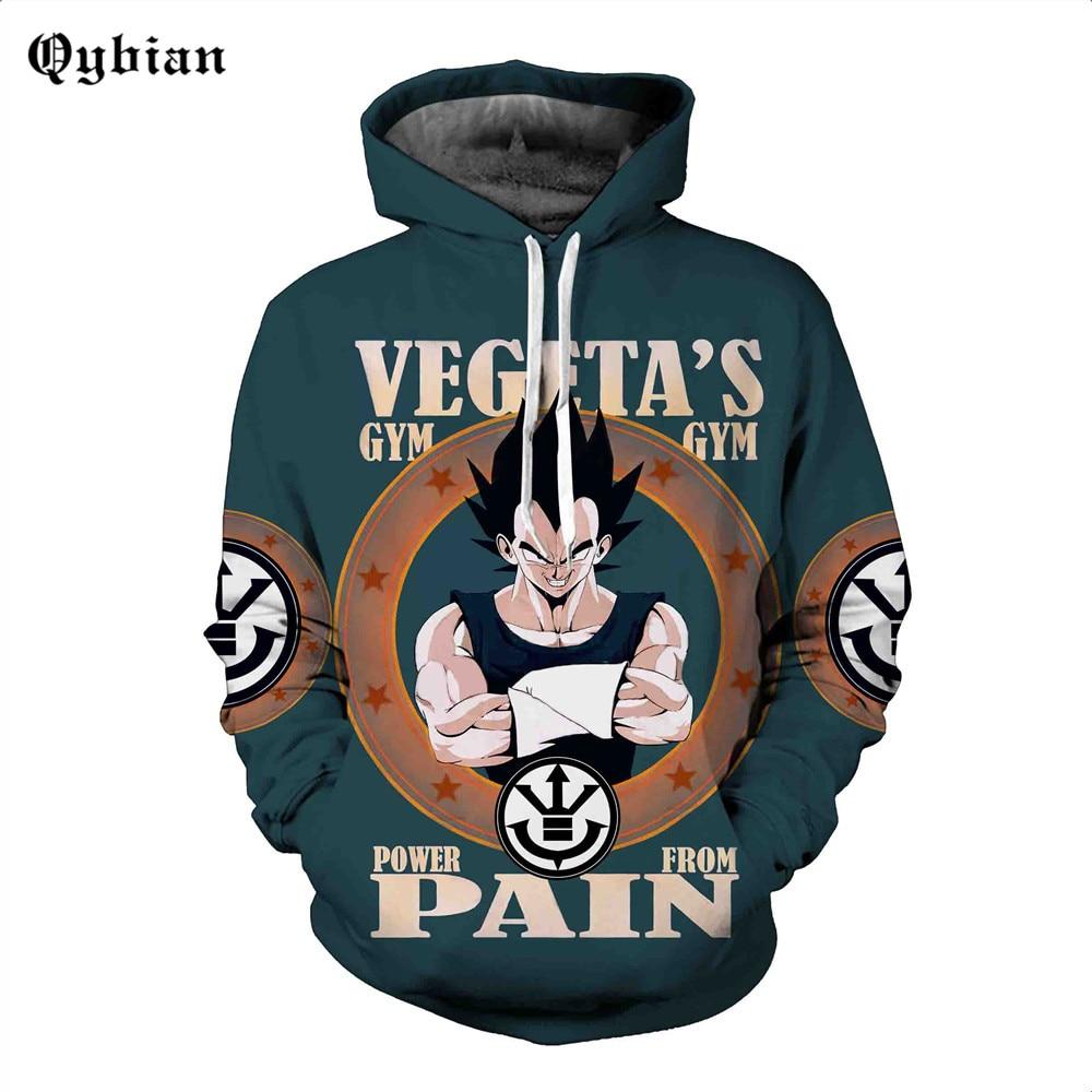 3d sweatshirt Men Hoodies Print letter Dragon Ball Autumn Winter Loose Thin Hooded Hoody Tops hooded sweatshirts size 5XL