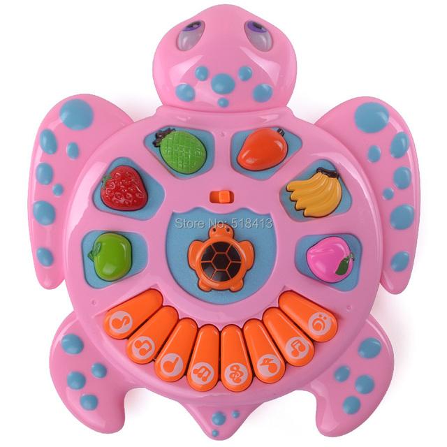Crianças infantis do bebê inteligência brinquedo animais tartarugas música eletrônica/specials