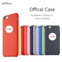Have LOGO Original Phone Cases For IPhone 6 6s 7 7 Plus Case Official Liquid Silicone