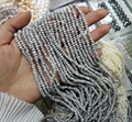 Top Real Natural Freshwater Pearl 2X4mm Natural Gray Pearl highlight pearl 37cm Strand Loose Beads women Jewelry