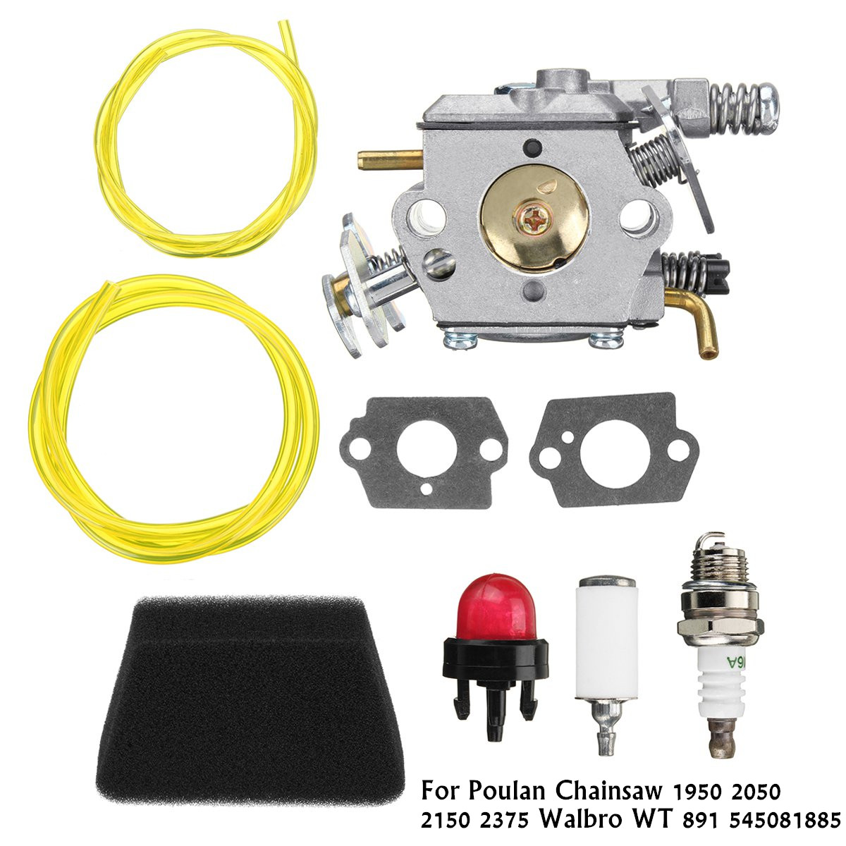 One set Carburetor Carb Kit 545081885 For Poulan Chainsaw 1950 2050 2150 Walbro WT 891