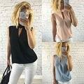 Fashion Summer Women Shirt Sleeveless Chiffon Blouse Loose Casual Tops