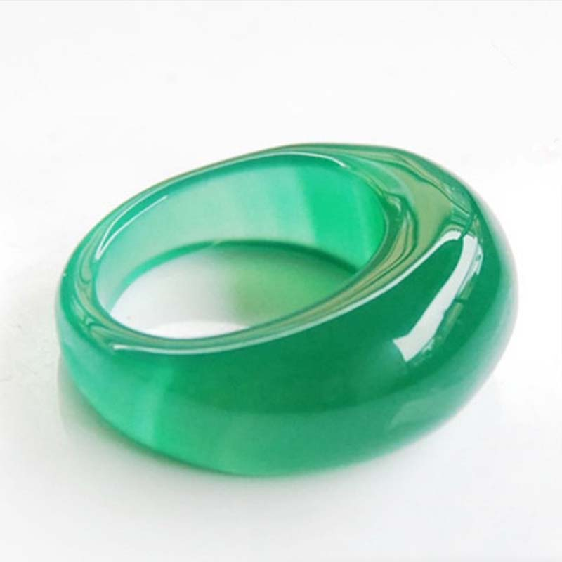 Natural ice red green white chalcedony onyx ring men and women ring jewelry gifts in Rings from Jewelry Accessories