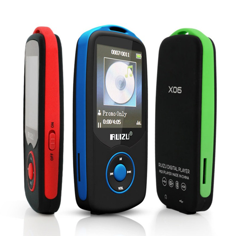 2016 RUIZU X06 Bluetooth Sports MP3 Music Player with 4GB 1 8 Screen Lyrics Display 100Hours