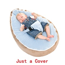 Just a Cover! Dropshipping Portable Infantil Bean bag for Feeding With Safety Belt Baby Chair Dining Pouf Toddler Puff Asiento