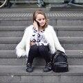 Buenos Ninos Crianças Luxo Faux Fur Coats & Jackets Sólidos Branco Preto O-pescoço de Manga Comprida Fresco Street Wear Meninas Marca jaqueta 15