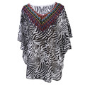 2016 Sexy Women Summer Chiffon Shirt Swimwear Beach Fashion Casual Short Sleeve Shirt