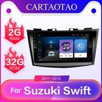 Android 8.1 GO car dvd gps player 2GB+32GB radio navigation multimedia player for Suzuki Swift 2011, 2012, 2013, 2014, 2015 2DIN