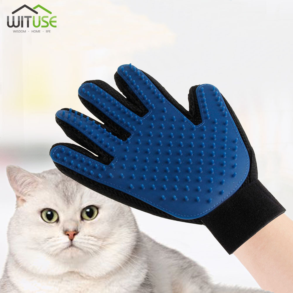 Derecha Pet Hair Remover Brush y Gentle and Efficient Pet Grooming Clean Massage Guantes Pet Grooming Glove