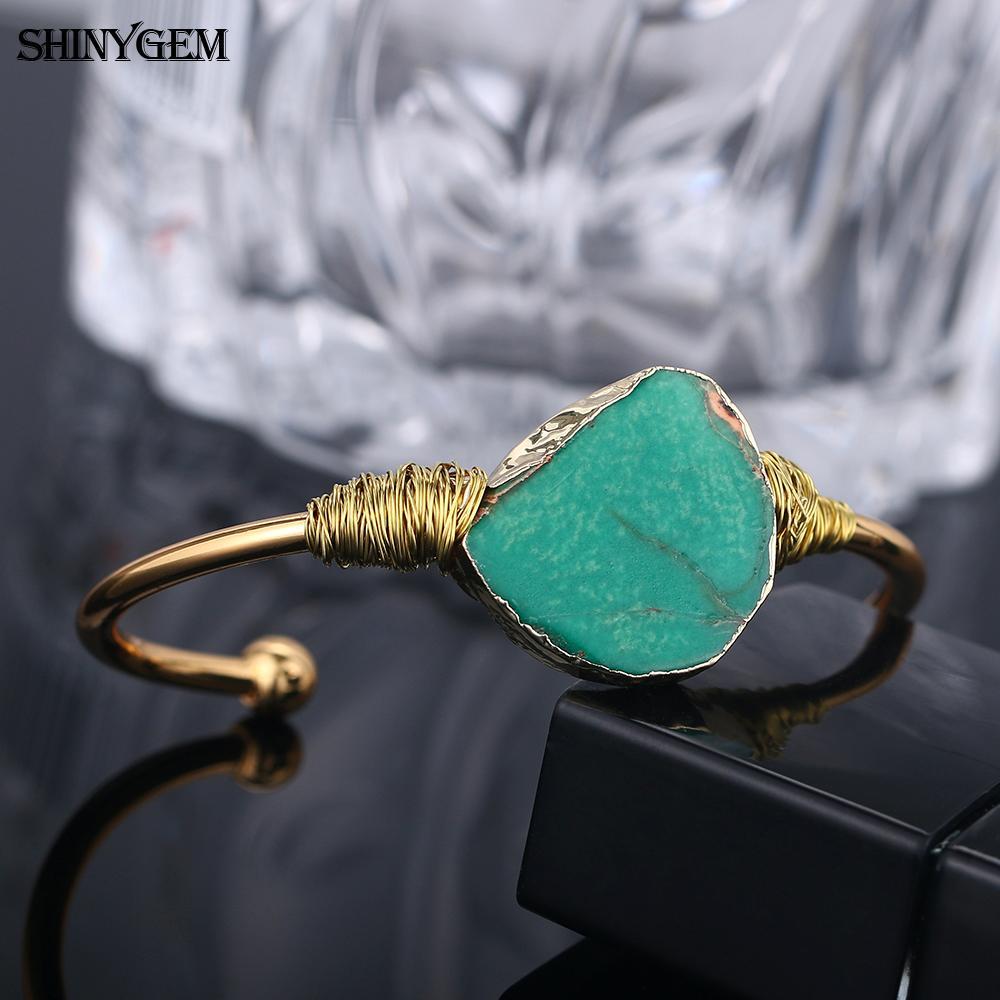 ShinyGem Natural Stone Bangle  4