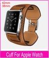 Nueva 1:1 calidad Original pulsera correa de piel correa para Pulseira brazalete de Apple venda de reloj 42 mm 38 mm con el Metal adaptadores