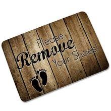 BHoming Please Take Off/Remove Your Shoes Doormat Entrance Mat Floor Mat  Rug Indoor/Front Door/Bathroom/Kitchen And Living Room