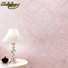 European luxury damask wallpaper flocking wall paper 3D papel de parede for living room bedroom R185 european luxury 3d gold foil wallpaper 3d damask golden bedroom background wallpaper mural wall paper striped floral wallpaper