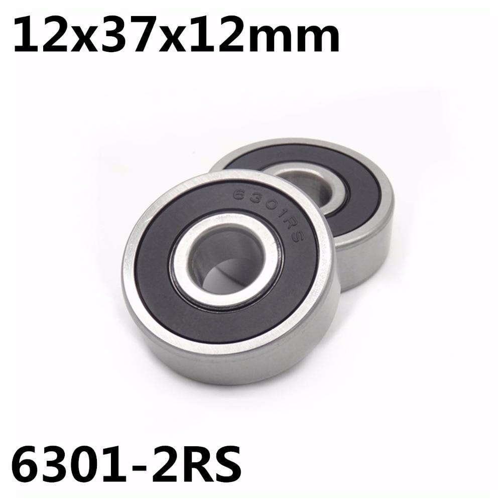 1 шт. 6301-2RS шариковый подшипник 12x37x12 мм, шариковый подшипник с глубоким желобом, высококачественный подшипник 6301RS 6301