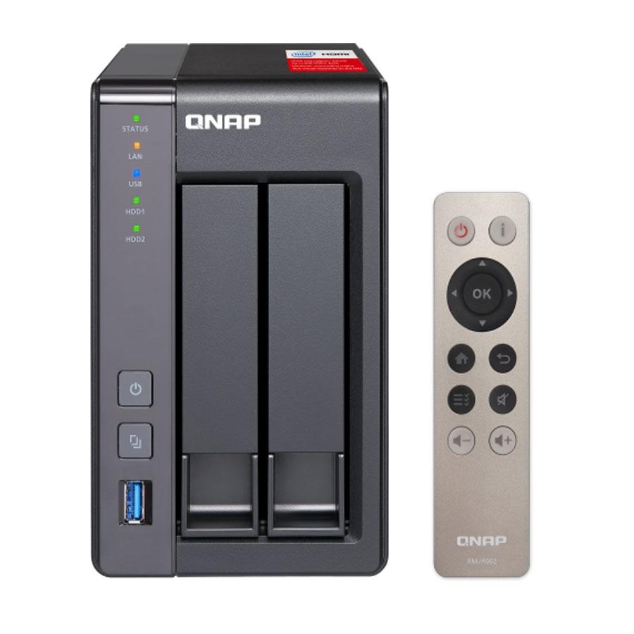 QNAP nas TS-251 + nas sans disque 2 baies, serveur nas nfs stockage en nuage de stockage réseau, 2 ans de garantie