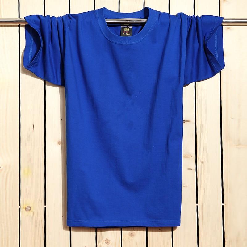 л-Размер 6xl плюс размер твердые футболка мужчины с коротким рубашка повседневный фитнес хлопка майка