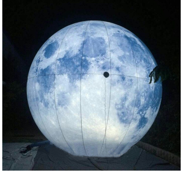 Led Lighting Inflatable Moon Planet Balloons Moon Jupiter
