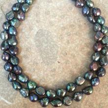 2 нити 12-13 мм Павлин барокко жемчужное ожерелье 18 дюймов