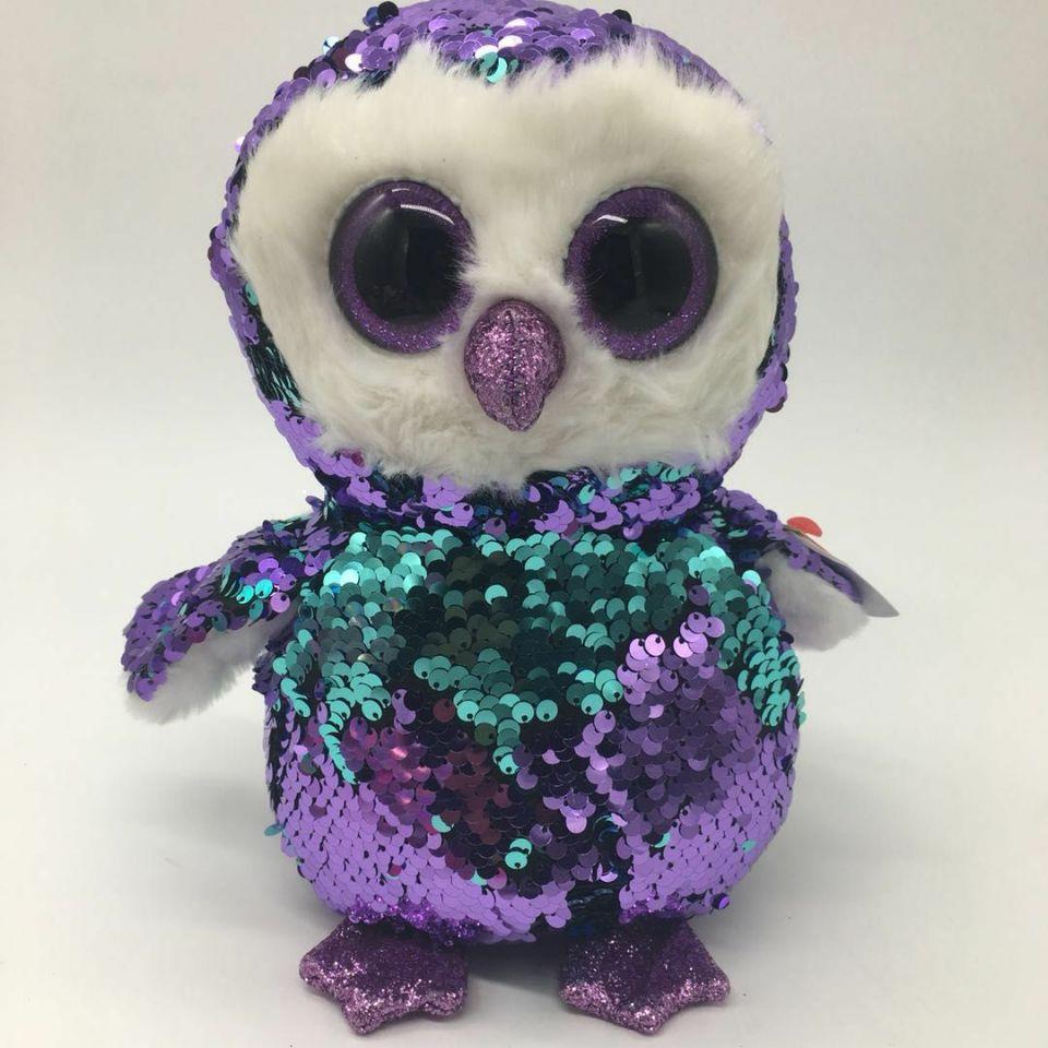 moonlight owl TY flippables 10  25CM BIG EYE Plush Toys Stuffed animals  KIDS TOYS Children bbd2fb51e813