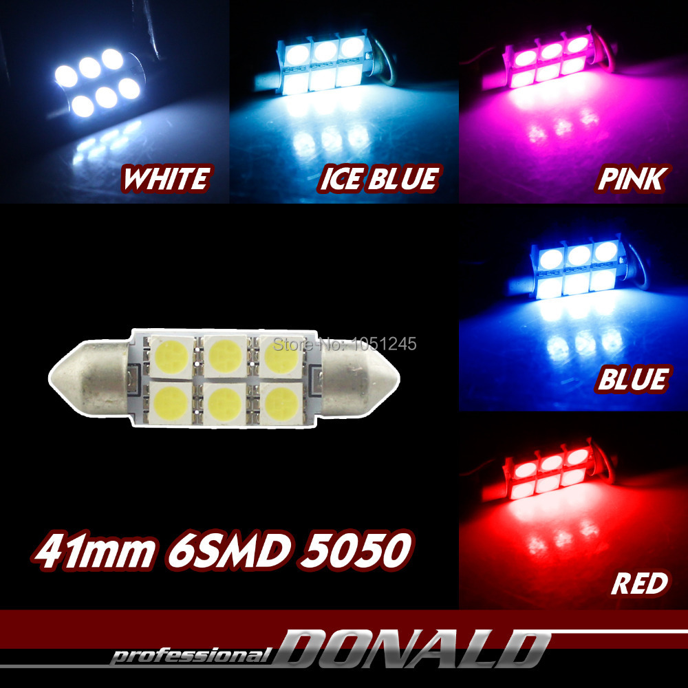 1x Car C5/W Festoon 42/mm 8/LED Sofitte Interior Lamp Light Red