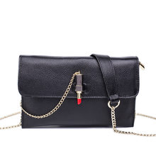 Women's Messenger Bag Phone Clutch Genuine Leather Cowhide Bag Lipstick Hasp Small Ladies Chain Shoulder Strap Bag Flap Purse(China)