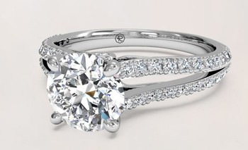JH L&A Classic 0.29ct H/SI1 Diamond Engagement ring 18K White Gold Rose Gold Love Forever Solid Fine Jewelry 2